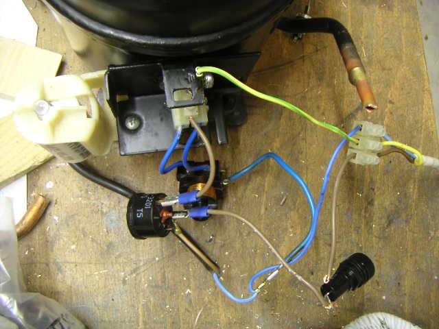 Relais klixon demarrage compresseur